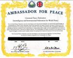 聯合國 UPF 和平大使是什麼,什麼又是聯合國特別諮詢地位?