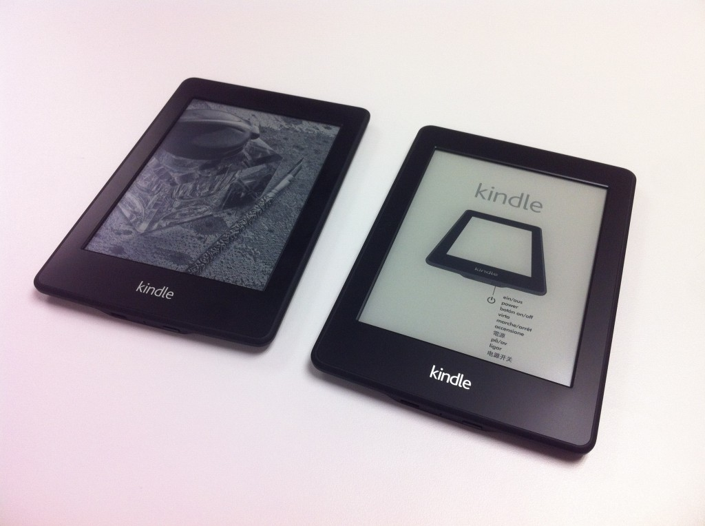 Kindle Paperwhite 2 代正面比較