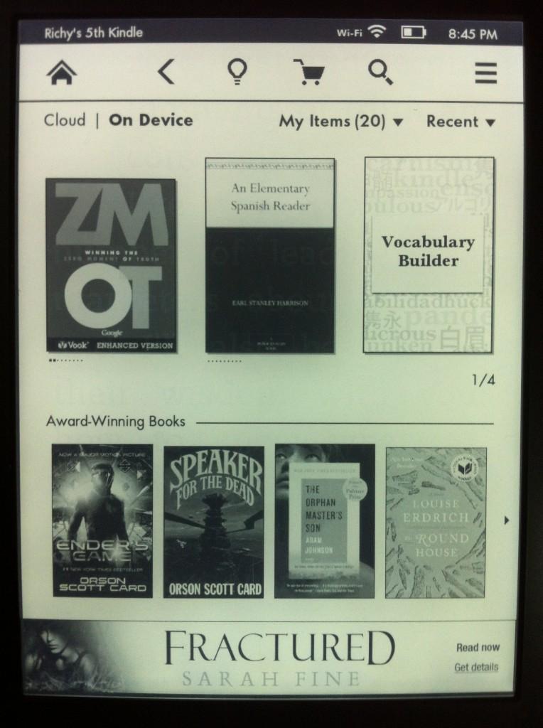 Kindle新的字彙學習功能