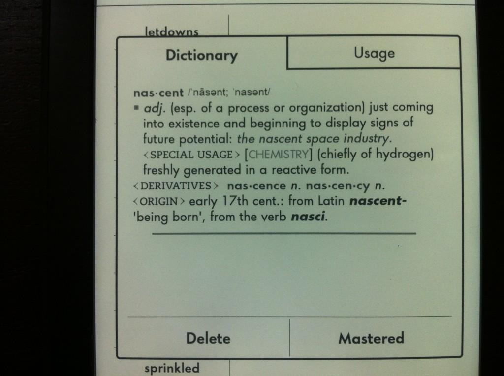 Kindle vocabulary buider的單字卡