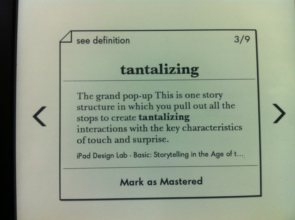 Kindle vocabulary buider的學習卡