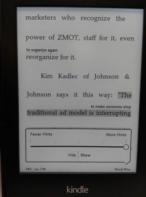 Kindle Word Wise 生詞提示開啟