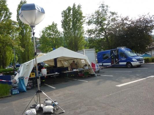 德國THW炊事班的工作帳篷
