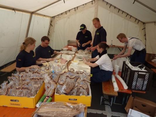 德國THW炊事班的工作環境