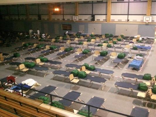 救援的志工也是人,救援期間也需要身心被安頓,德國在2013水災期間,志工的臨時休息區。(圖片來源THW OV Stralsund)