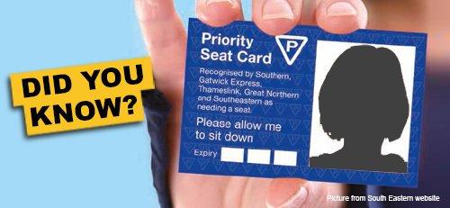 無障礙座位辨識卡 Priority Seat Card