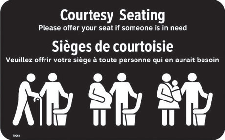 Courtesy Seating Bilingual Artwork Outlines