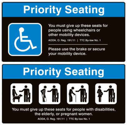 加拿大無障礙座位的規範